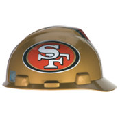 MSA Officially-Licensed NFL V-Gard Helmets, 1-Touch, San Francisco 49ers Logo, 1/EA, #818409
