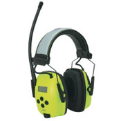 Honeywell Sync Hi-Vis Digital AM/FM Radio Earmuff, 25 dB, Hi-Vis Green, 1/EA, #1030390