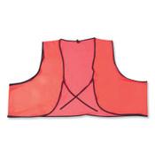 MCR Safety Safety Vests, Orange, PVC, 1/EA, #V041