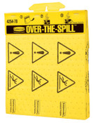 Newell Rubbermaid™ Over-The-Spill Pad Tablets, Caution Wet Floor, Yellow, 12/CT, #425400YEL