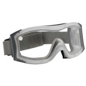 Bolle DUO Safety Goggles, Smoke Dual Polycarbonate Lens, Cloth Strap, Frosted Frame, 1/PR, #40098