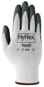 Ansell HyFlex 11-624 Dyneema/Lycra Work Gloves, Size 6, White/Black, 12 Pair, #104777