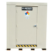 Justrite 4-Hour Fire-Rated Outdoor Safety Locker, Explosion Relief, (16) 55-gallon drums, 1/EA, #913161