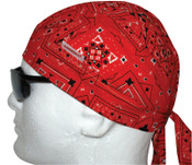 Comeaux Caps Doo Rags, One Size Fits All, Red Bandanna, 1/EA, #7000R