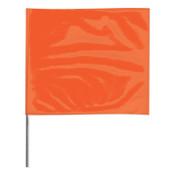 Presco Stake Flags, 2 in x 3 in, 30 in Height, Orange Glo, 1000/BOX, #2330OG