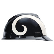 MSA Officially-Licensed NFL V-Gard Helmets, 1-Touch, St. Louis Rams Logo, 1/EA, #818411