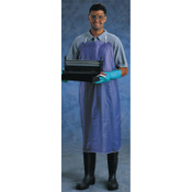 Ansell CPP Vinyl Apron, 8 mil, 33 in x 44 in, Blue, 12/PK, #105173