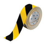 Brady ToughStripe Floor Marking Tape, 2 in x 100 ft, Black/Yellow, 1/RL, #104317