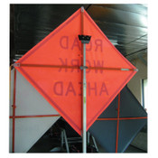 TrafFix Devices, Inc. Vinyl Roll Up Sign with Plastic Corner Pockets, Nonreflective Orange, 48 in, 1/EA, #26048EVHFBPTS