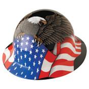 Honeywell SuperEight Hard Hats, 8 Point Ratchet, Spirit of America, 1/EA, #E1RW00A006