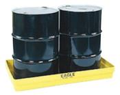 Eagle Mfg 2-Drum Budget Basins, Yellow, 5,000 lb, 34 gal, 51 1/2 in x 26 1/4 in, 1/EA, #1631