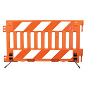 "TrafFix Devices, Inc. ADA Barricade Wall, Orange, 72""L x 38""H, No Sheeting, 1/EA, #57000AOR"