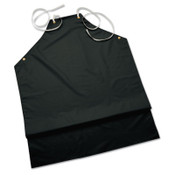 Ansell CPP Supported Aprons, 35 in X 45 in, Hycar, Black, 12/DZ, #105256