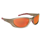 3M Fuel 2 Safety Eyewear, Red Mirror Lens, Anti-Fog/HC, Metallic Sand Frame, Nylon, 1/EA, #7000002362