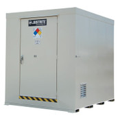 Justrite Non-Combustible Outdoor Safety Locker-Natural Draft Ventilation, (12)55gal drums, 1/EA, #911120