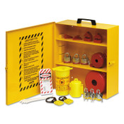 BRADY Industrial Strength Lockout Stations, 1.5 in Dia Shackle, 14w x 6d x 16h, Yellow, 1/ST, #LC251M