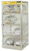 Justrite Aluminum Cylinder Lockers, (12) 20 or 30 lb. Cylinders, 1/EA, #23004