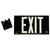 Brady Glo High Performance Glow-In-The-Dark Exit Signs, Black, Double Face, 1/EA, #38098B