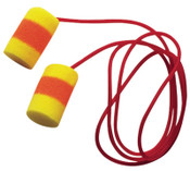 3M E-A-R Classic SuperFit 30 Foam Earplugs 311-1126, PVC, Red/Yellow, Corded, 200/BX, #7000052718