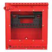 MASTER LOCK Red Steel Group Lockout Box, Max Number of Padlocks: 12, 13-11/16 in x 12-1/8 in, 1/EA, #S3502