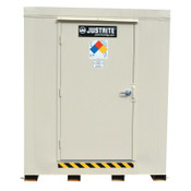 Justrite 2-Hour Fire-Rated Outdoor Safety Locker, Explosion Relief, (12) 55-gallon drums, 1/EA, #912121