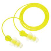 3M Tri-Flange Earplugs P3000, Elastomeric Polymer, Clear, Corded, 100/BX, #7000127187