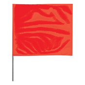 Presco Stake Flags, 2 in x 3 in, 21 in Height, PVC; Steel Wire, Red, 100/BDL, #2321R