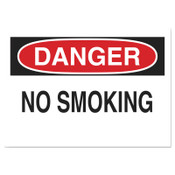 Brady Health & Safety Signs, Danger - No Smoking, 10X14 Polyester Sticker, 1/EA, #88371