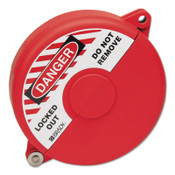 Brady Gate Valve Lockouts, 5 in - 6 1/2 in Handle Size, Red, 1/EA, #65562