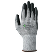 Ansell HyFlex 11-435 Cut-Resistant Gloves, Size 7, Black; Heather Gray, 12 Pair, #111049