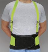 Allegro Economy Hi-Viz Back Supports, X-Large, Lime Green, 1/EA, #717804