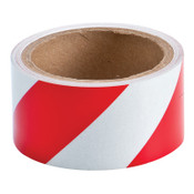 BRADY Reflective Striped Tapes, 2 in x 10 yd, Red/White, 1/EA, #78131