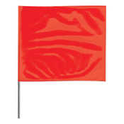 Presco Stake Flags, 2 in x 3 in, 24 in Height, Red, 100/BDL, #2324R