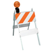TrafFix Devices, Inc. All Plastic Type I Barricades, 12 in x 24 in/6 in x 24 in Panels, LDPE, White, 1/EA, #35212EG14