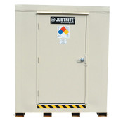 Justrite 2-Hour Fire-Rated Outdoor Safety Locker, Standard, (16) 55-gallon drums, 1/EA, #912160
