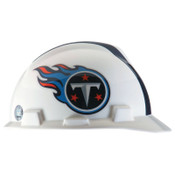 MSA Officially-Licensed NFL V-Gard Helmets, 1-Touch, Tennessee Titans Logo, 1/EA, #818413