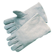 Best Welds Economy Welding Gloves, Economy Shoulder Leather, Large, Gray, 12/DZ, #3000