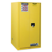 Justrite Safety Cabinets for Combustibles, Manual-Closing Cabinet, 96 Gallon, Yellow, 1/EA, #896010