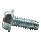 "#10-24x3/4"" F/T Indented Hex Washer Head Slotted Thread Cutting Screws Type F Zinc Cr+3 (5,000/Bulk Pkg.)"