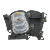 CLC Custom Leather Craft Gel-Tek Stabili-Cap Kneepads, Nylon Elastic Strap, Black, 1/PR, #376