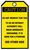 Brady Blank Accident Prevention Tags, 3 1/4 x 5 5/8 in, Caution, 25/PKG, #76168
