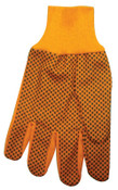 Anchor Products 1000 Series Dotted Canvas Gloves, Cotton Canvas, Men's, Hi-Vis Orange, 300/CA, #710KORPD
