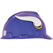 MSA Officially-Licensed NFL V-Gard Helmets, 1-Touch, Minnesota Viking Logo, 1/EA, #818400