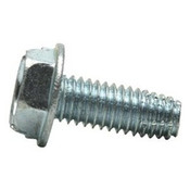 "#10-32x1"" F/T Indented Hex Washer Head Slotted Thread Cutting Screws Type F Zinc Cr+3 (4,000/Bulk Pkg.)"