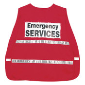 MCR Safety ICV204 Incident Command Vests, One Size, Red, 1/EA, #ICV204