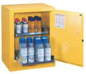 Justrite Sure-Grip EX Aerosol Can Safety Cabinets, Manual-Closing, 24 Aerosol Cans, 1/EA, #890500