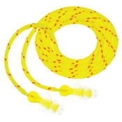 3M Tri-Flange Earplugs P3001, Elastomeric Polymer, Clear, Cloth Cord, 100/BX, #7000052724