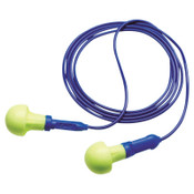 3M E-A-R Push-Ins SofTouch Earplug 318-1005, Polyurethane, Blue/Yellow, Corded, 500/BX, #7100002154