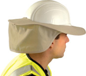 OccuNomix Stow Away Hard Hat Shade, Khaki, Most Full Brim, 1/EA, #899KHK