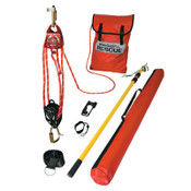 Honeywell QuickPick Rescue Kit, 50 ft. Working Distance, 250 ft Rope, 400 lb Load Capacity, 1/EA, #QP150FT